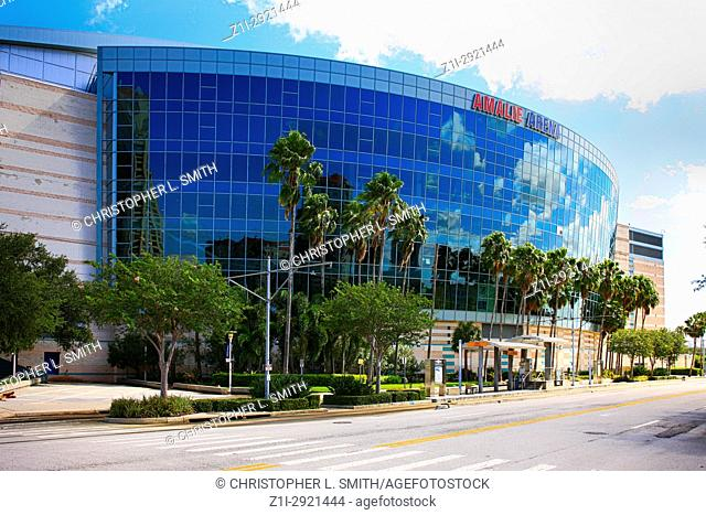 Amalie Arena sports stadium in downtown Tampa FL, USA