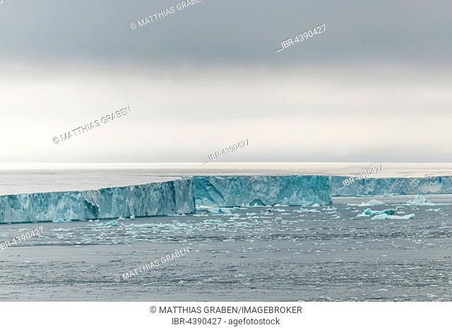 Coastline at the Austfonna glacier, Nordaustlandet, Svalbard, Spitsbergen, Norway