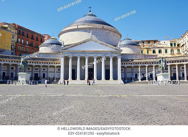 Church of San Francesco Di Paola, Piazza del Plebiscito , Naples, Campania, Italy, Europe