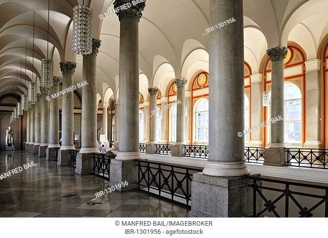 Bavarian State Library, first floor, ceiling vault with Corinthian columns, Munich, Bavaria, Germany, Europe