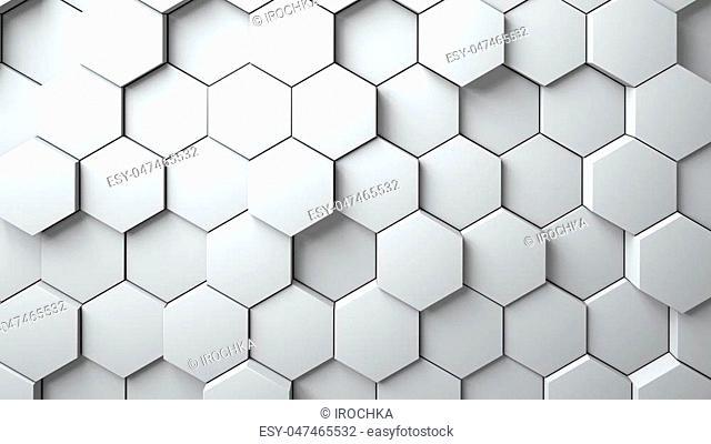 Abstract Hexagons Background 3d rendering