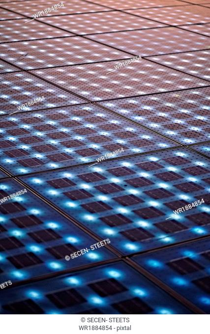 Croatia, Dalmatia, Solar panels as a dance floor, full frame