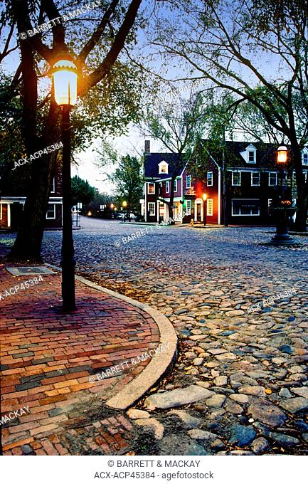 Cobblestone Street, Main street, Nantucket Island, Massachusetts, United States of America