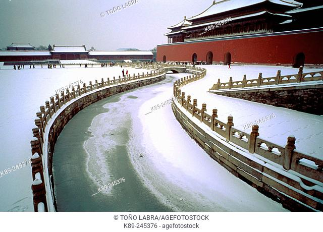 Imperial Palace in winter. Beijing. China