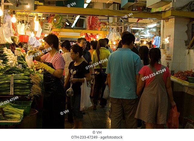 Yuen Long food market, New Territories, Hong Kong
