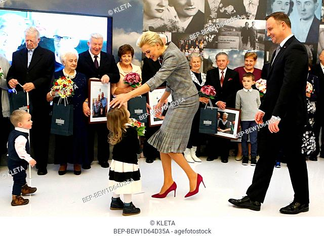 November 19, 2018 Warsaw, Poland. Presidential Couple during the reception for couples with long married life. Pictured: President Andrzej Duda and First Lady...