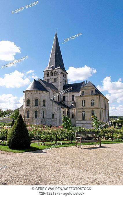 The Norman abbey of Saint Georges de Boscherville in the village of Saint-Martin-de-Boscherville in the Seine-Maritime region of Normandy, France