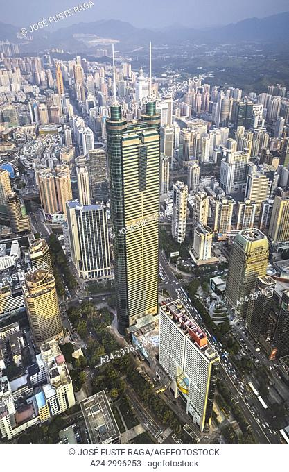 China, Shenzhen City, Di Wang Tower, Dong Men Area