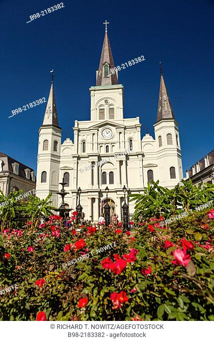 Saint Louis Cathedral in Jackson Square, French Quarter, New Orleans