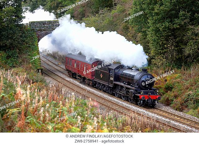 Steam train LNER Thompson/Peppercorn Class K1 62005 Lord Of The Isles. Cowran Cut, Cowran Cutting, Brampton, Newcastle & Carlisle Railway, N&CR, Cumbria