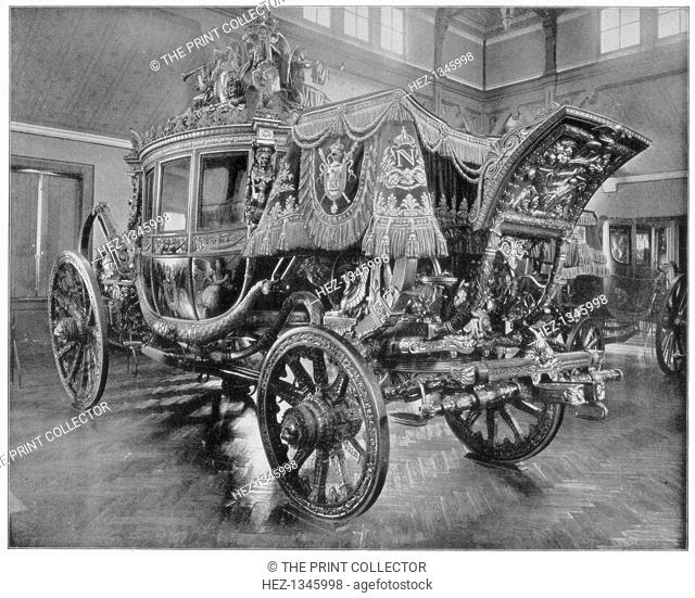 Napoleon's carriage, Versailles, (late 19th century). Illustration from Portfolio of Photographs, of Famous Scenes, Cities and Paintings