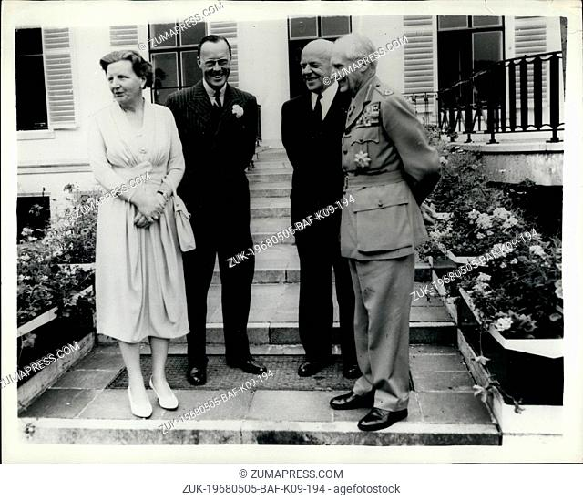 May 05, 1968 - Queen Juliana Receives 'Monty' - in Amsterdam: Field Marshal Viscount Montgomery paid a visit to the Netherlands - as part of her pre-retirement...