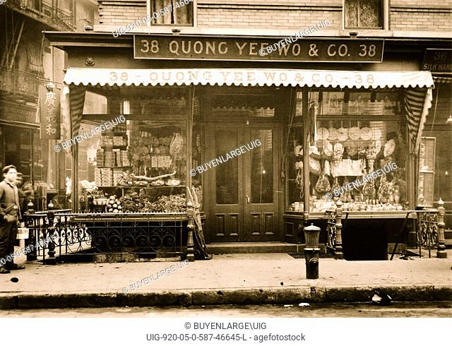 Store front of Quong Yee Wo & Co., Chinatown