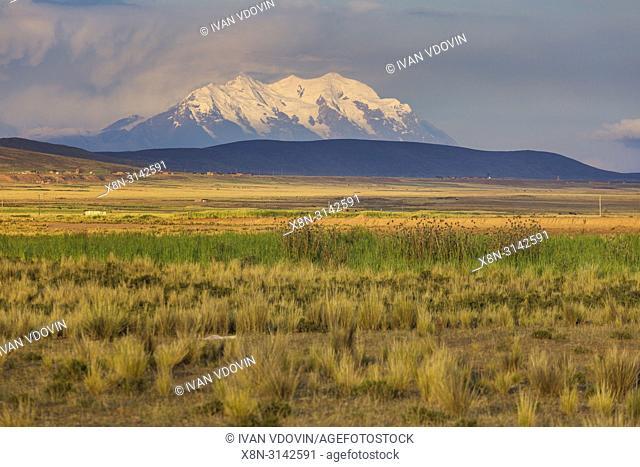 Illimani volcano, Aymara, Cordillera Real, La Paz department, Bolivia