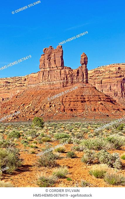 United States, Utah, Bluff area, Valley of the Gods, De Gaulle and his Troops