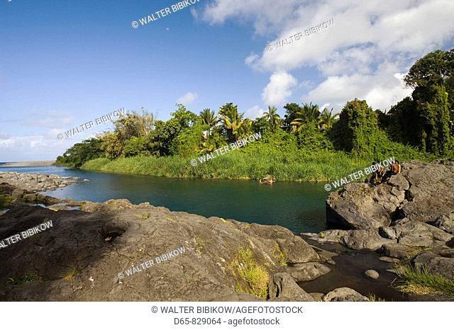 Bassin Bleu swimming lagoon, Sainte-Anne, East Reunion, Reunion island, France