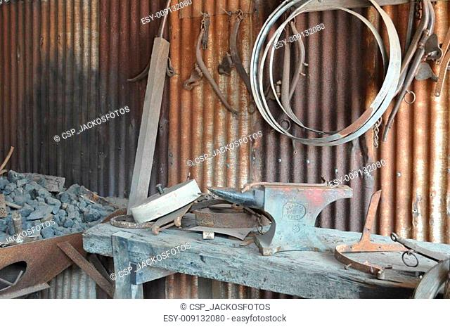 rustic old anvil