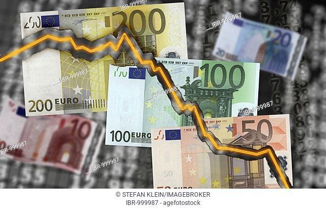 Stock price, Euro bills