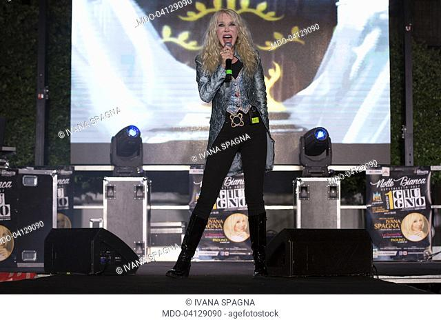 Italian singer Ivana Spagna sings during a concert at Ospitaletto (Brescia). June 10th 2017