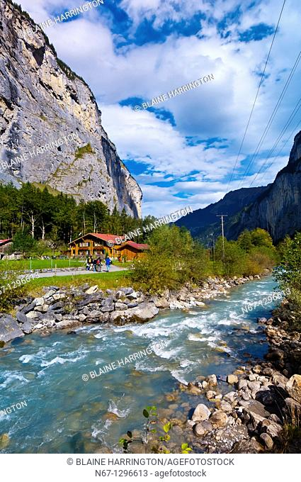 Stream, Lauterbrunnen Valley, Canton Bern, Switzerland