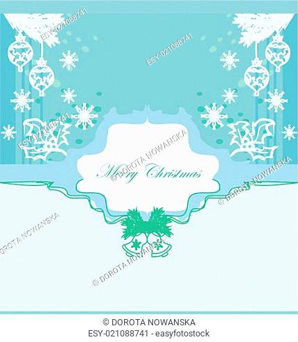 Christmas Framework style card with baubles