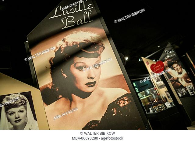 USA, New York, Western New York, Jamestown, Lucy-Desi Museum, dedicated to comedy star Lucille Ball of the 1950s-era TV show, I Love Lucy, memorabilia of star