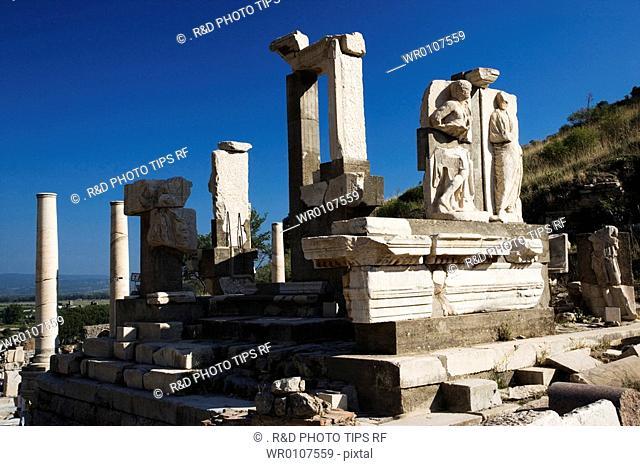 Turkey, Kusadasi, Ephesus, Memmius Monument