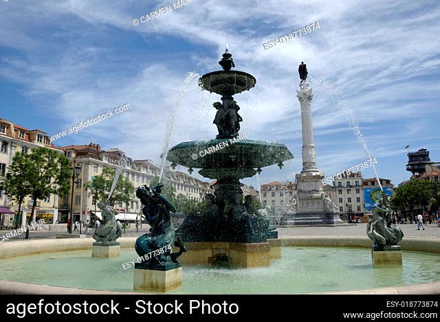 Springbrunnen am Rossio