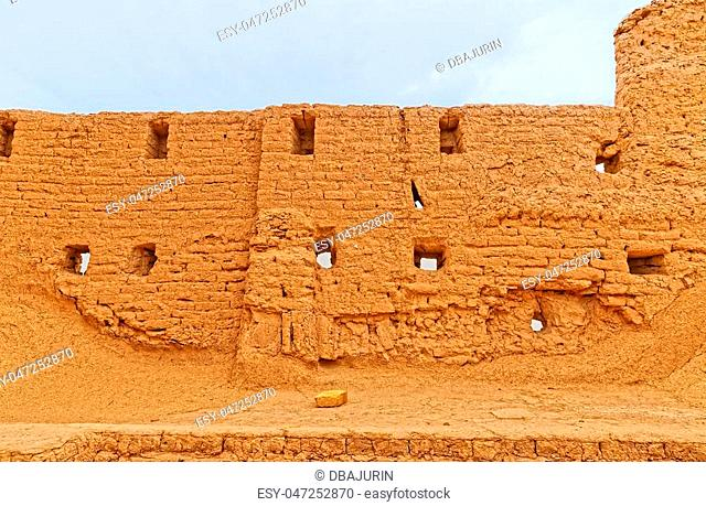 One of the ruined buildings of the Narin castle and fort built some 2, 000 years ago in Meybod Iran