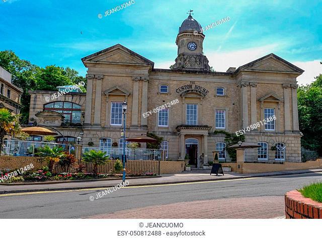 Custom House, historic building at Cardiff Bay near the Barage