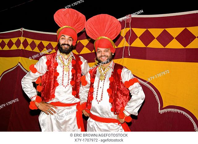 Sikh performers at the Summer Festival in Mount Abu, India