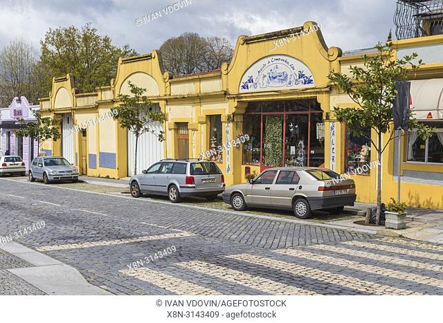 Vintage building, Porta Nova square, Braga, Portugal