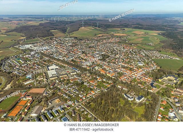 Aerial view, Bad Arolsen, Hesse, Germany