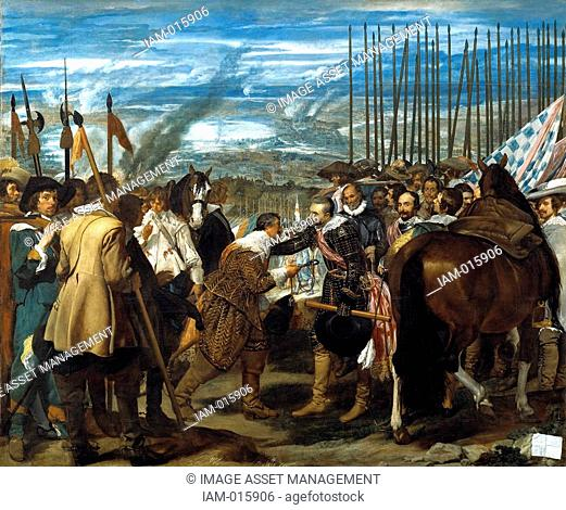 Diego Velázquez 1599 - 1660 The Surrender of Breda 1635. The Dutch fortress city of Breda fell to a Spanish army under Ambrosio Spinola in 1625