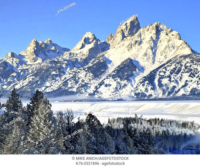 Snake River Overlook, Winter, Grand Teton National Park, Wyoming