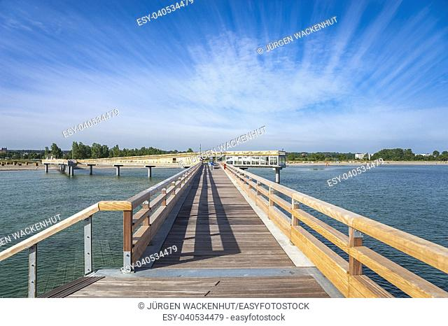 Pier, Heiligenhafen, Baltic Sea, Schleswig-Holstein, Germany, Europe