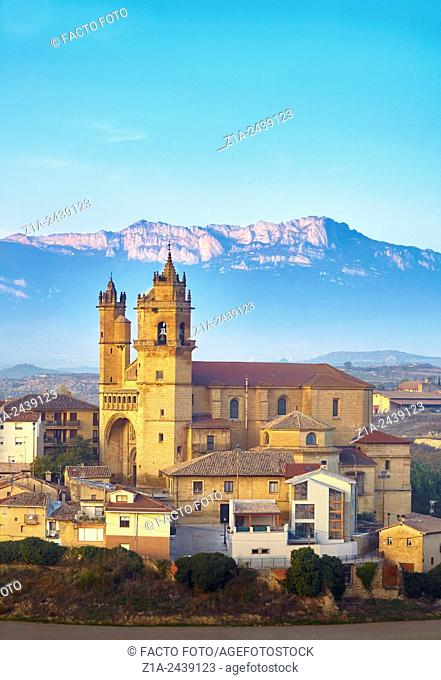 The Church of San Andres. Elciego. Rioja alavesa wine route. Alava. Basque country. Spain