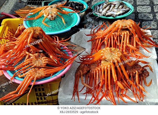South Korea, Busan, fish market