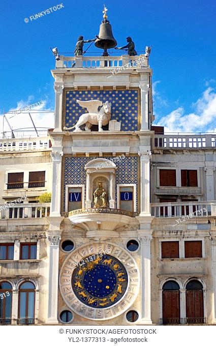 The Clock Tower - Saint Mark's Square - Venice Italy