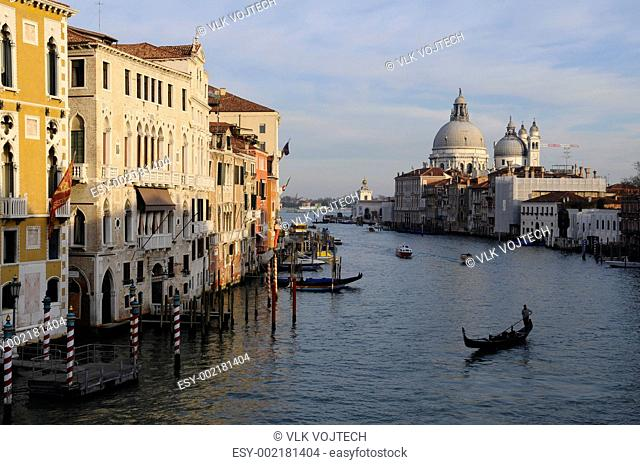 Picture of canal during a sunny day in Venice