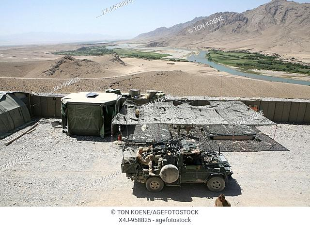 Dutch military in Coyoti, Uruzgan  The Dutch ISAF forces, together with the Australian forces control Tarin kowt town and Derahwod town in Uruzgan province