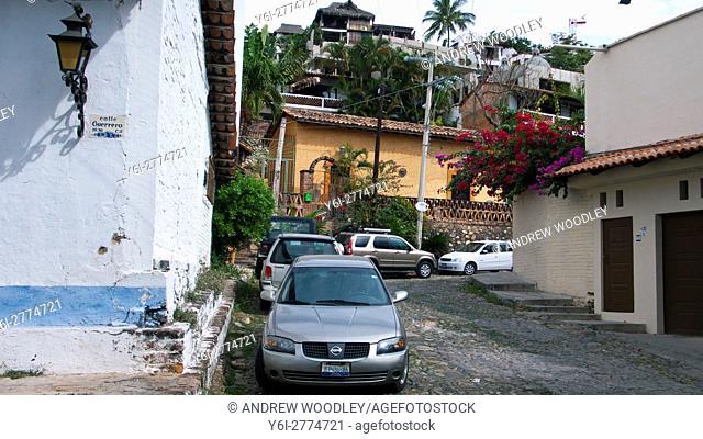 Back streets of Puerto Vallarta Mexico