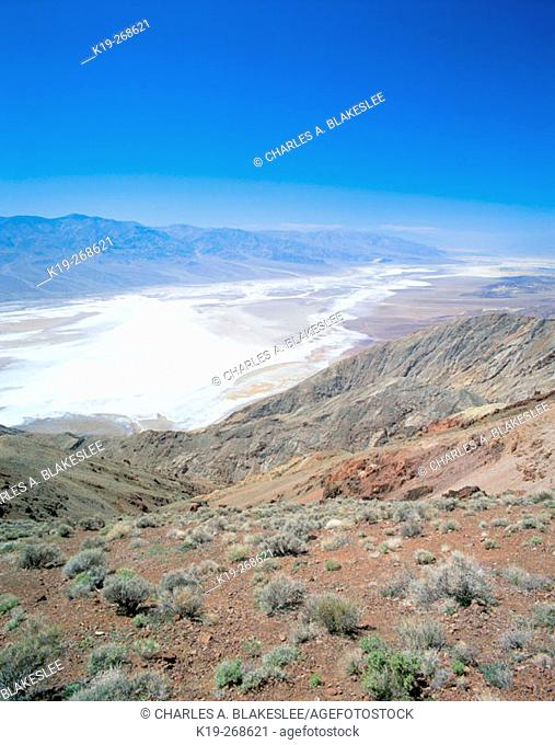Death Valley from Dantes view. Death Valley National Park. Inyo county. California. USA
