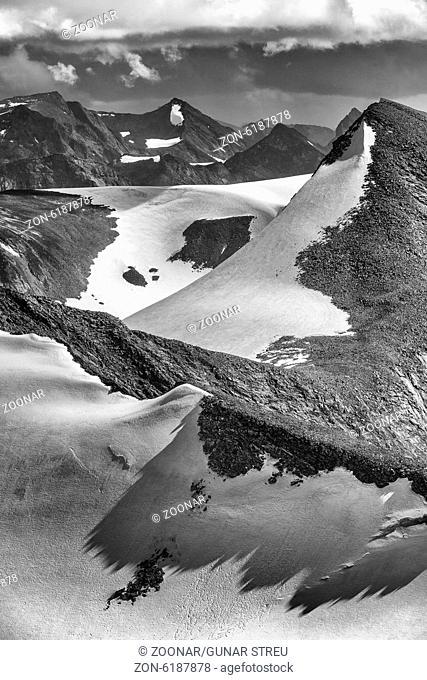 mountain ridges, Sarek NP, Lapland, Sweden
