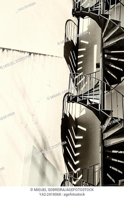 Exterior Spiral Staircase