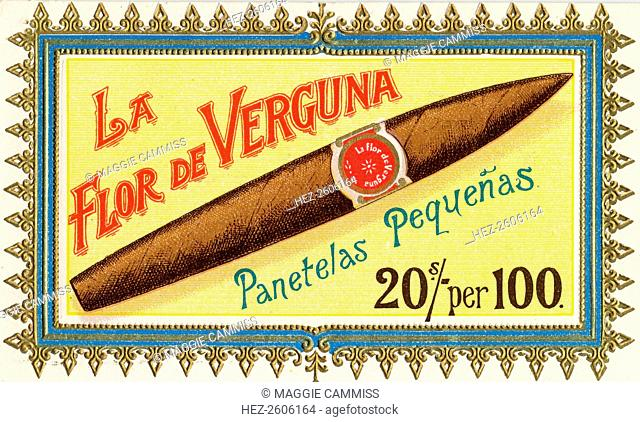 La Flor de Verguna Pantella Cigars, c.1880-1920