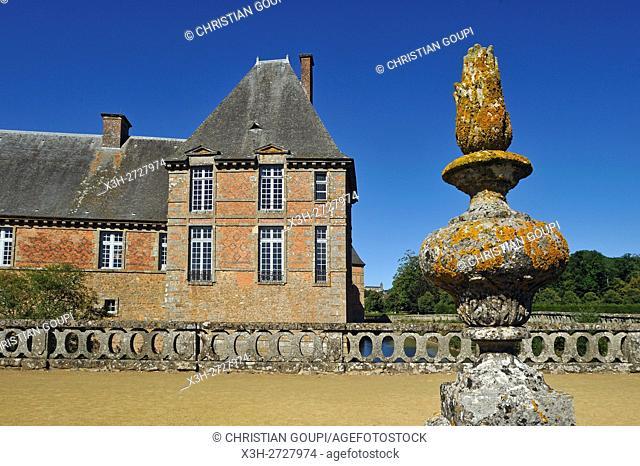 Chateau de Carrouges, Domfront, department of Orne, Normandie region, France, Europe