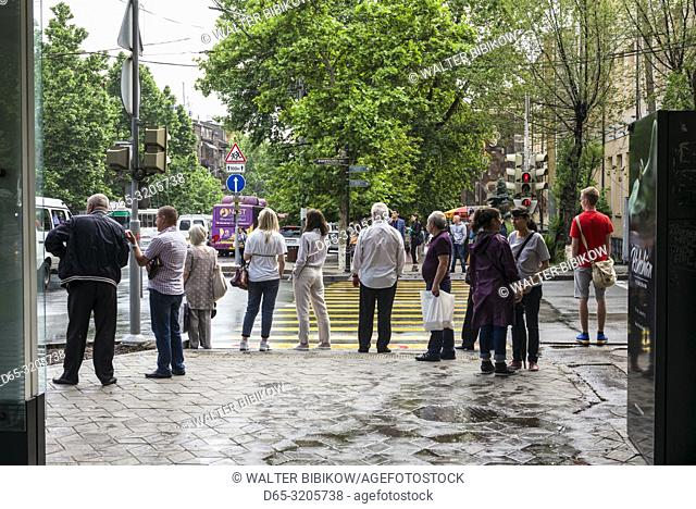 Armenia, Yerevan, people on the street, NR