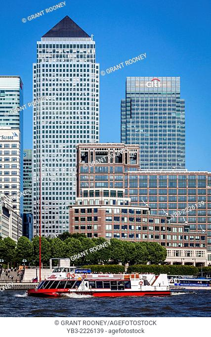 One Canada Square and Citi Bank Building, Canary Wharf, London, England
