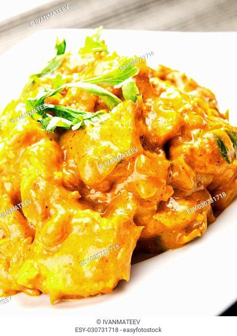 Chicken tikka masala - indian meal